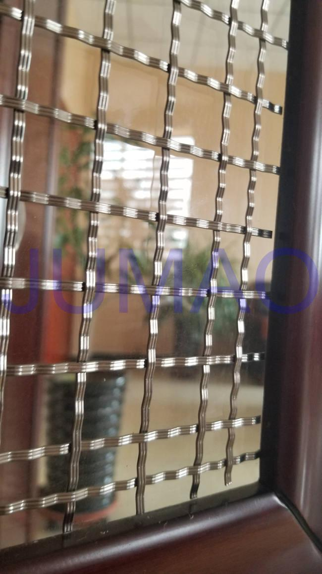 Storage Cabinet Screen Mesh Polished Brass Decorative Mesh For