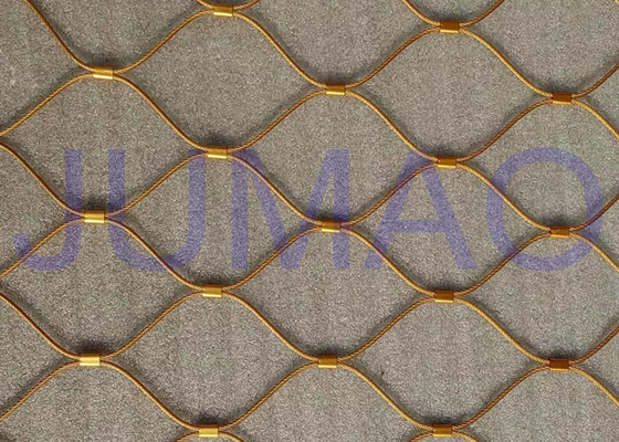 Flex Architectural Metal Screen , Customized Architectural Wire Mesh Panels