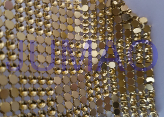 Interlaced Metal Sequin Fabric Curtain , 120 Cm * 45 Cm Metallic Mesh Fabric