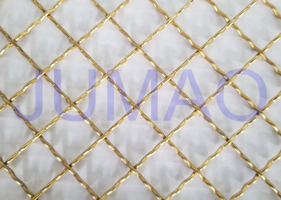 Brass Plated Decorative Wire Mesh Cabinet Inserts For Entertainment Centers