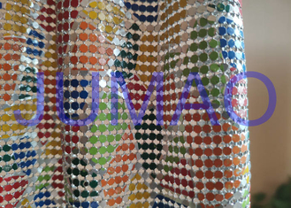 Colorful Drapes Metal Sequin Fabric Anodized Aluminum For Bag / Cloth / Table