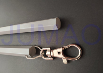 China Hexagonal Grey Drapery Curtain Rods Moving 10 Mm Aluminum Draw Pull Stick supplier