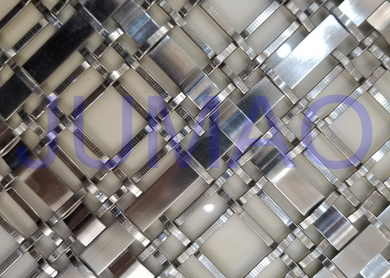 Silver Wire Mesh Grille Inserts For Cabinets , Luxury Yachts Decorative Metal Mesh