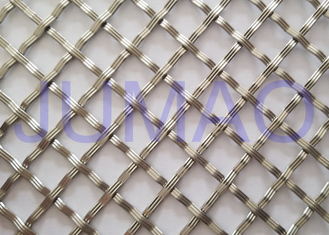 10 Mm Textured Cabinet Grille Inserts , Bright Metal Mesh Panels For Cabinets