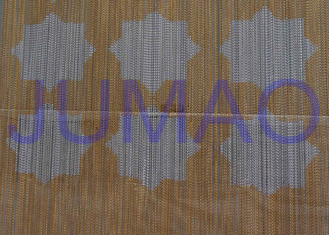 Rose Color Metal Chain Link Curtains Ceiling Decoration For Exhibitions