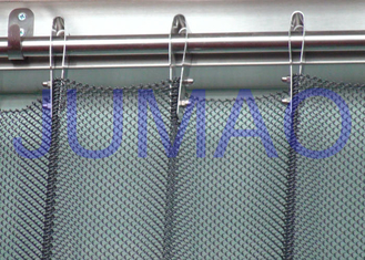 China Fireproof Silver Metal Mesh Curtains Metal Coil Drapery For Exhibition Blinds supplier