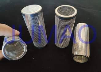 Metal Chemically Wire Mesh Filter Photo Etched Screens Punching Cylinder