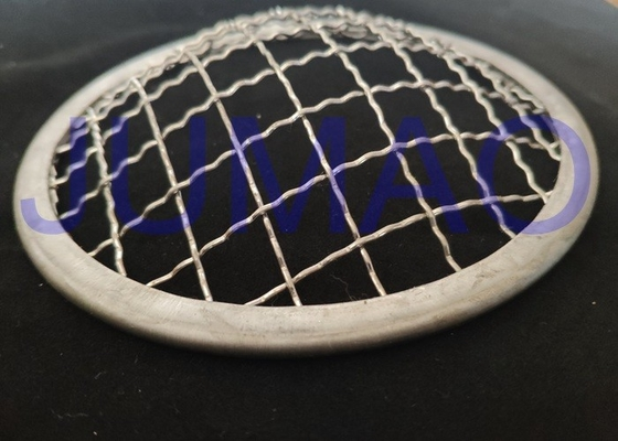 Galvanised Crimped Wire Mesh Filter 45 Mm Mirror Polished Surface For Solid