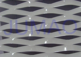 China Electric Galvanized Aluminum Expanded Metal , White Metal Sheet With Holes supplier