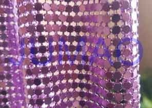 Rust Proof Metal Sequin Fabric No Electrical Conductivity For Ceiling Decorations