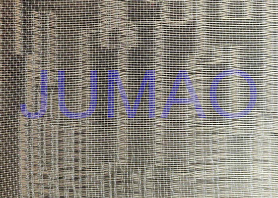 Metal Type Glass Partition Fine Woven Wire Mesh With Float Glass CE Approved