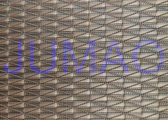 China Glass Laminated Architectural Argyle Red Copper Wire Mesh Fabric 2000mm Width supplier