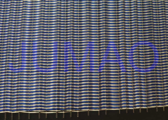 Decorative Glass Laminated Metal Mesh Fabric For Wall Partition CE Approved