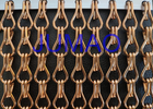 Magic Strong Aluminium Chain Screen , Ceiling Drape Coloured Aluminium Chain
