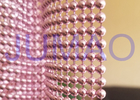 China Pink Steel Ball Curtain , Architectural Decorative Ball Chain Beaded Curtain  company