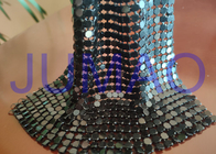 China Black Slices Metal Sequin Fabric , 4 Mm * 4 Mm Common Areas Metal Flake Fabric company