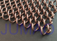 Coffee Color Metal Mesh Curtains Iron Wire Material For Replacement Fireplace Door