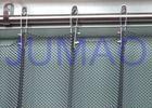 Fireproof Silver Metal Mesh Curtains Metal Coil Drapery For Exhibition Blinds