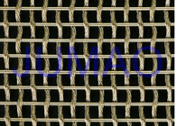 Interior Flat / Bright Woven Wire Mesh , Security Stainless Steel Wire Mesh