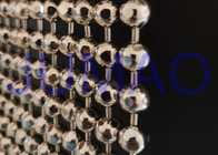 Faceted Nickle Coated Beaded Room Dividers Hanging With 9.25mm Metal Beads